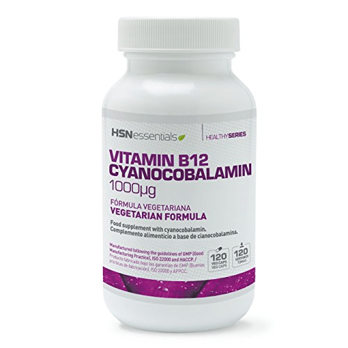 Vitamina B12 HSN Essentials 1000mg – 120 cápsulas vegetales